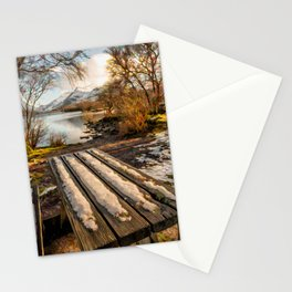Winter Bench Snowdonia Stationery Cards