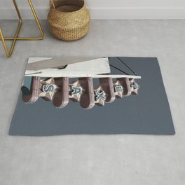 Texas Theater sign Rug