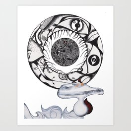 Composition in circle_2. Art Print