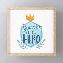 Hero Dad Framed Mini Art Print
