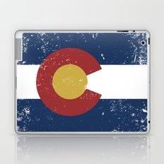 Distressed Colorado Flag Laptop & iPad Skin