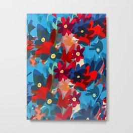 Flowers in Bloom Springtime Pattern Metal Print