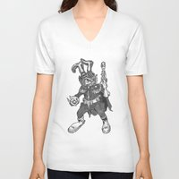 bucky V-neck T-shirts featuring Bucky O'Hare by Hartless