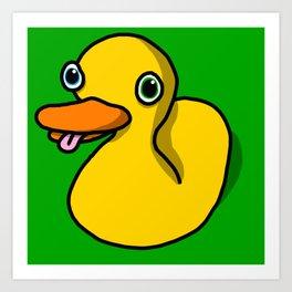 Drunk Duck   Veronica Nagorny Art Print