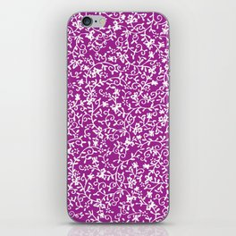 Purple white watercolor floral paisley illustration iPhone Skin