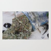 medical Area & Throw Rugs featuring Silver Afghan Medical Marijuana by BudProducts.us