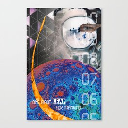 Giant Leap collage Canvas Print