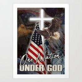 Poster One Nation Under God Art Print