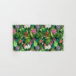 Tropical Lush Sanctuary, A Bohemian Paradise Hand & Bath Towel