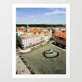 CITY CENTRE STATUE Art Print