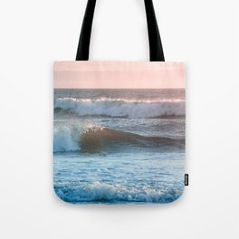 Beach Adventure Summer Waves at Sunset Tote Bag