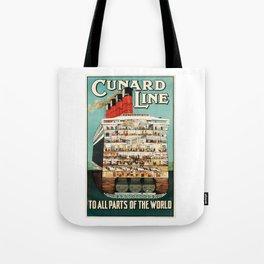 Vintage Cruise Travel Poster Tote Bag