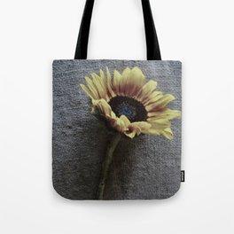 Sunflower on Jute Tote Bag