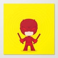 daredevil Canvas Prints featuring Daredevil by Wish Me Monsters