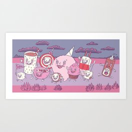 Sugar Parade Art Print