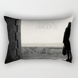 There Be Dragons Rectangular Pillow