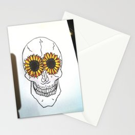 Smiling Skull Stationery Cards