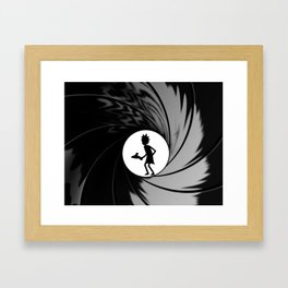 Rick becomes bond Framed Art Print