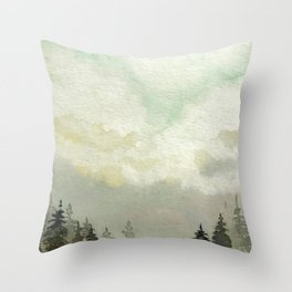 Spruce Trees After The Storm Throw Pillow