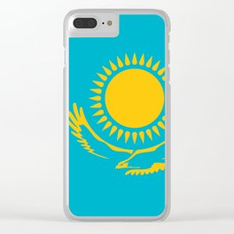 Kazakhstan Flag Clear iPhone Case