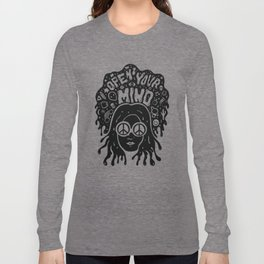 Open Your Mind in black Long Sleeve T-shirt