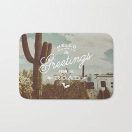 Greetings From The Road (cactus) Bath Mat