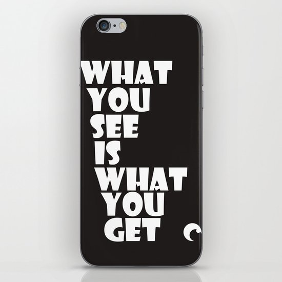 What You See iPhone & iPod Skin