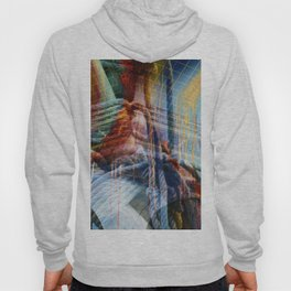 Tau abstract design Collage Hoody