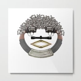 GUN FACE Metal Print