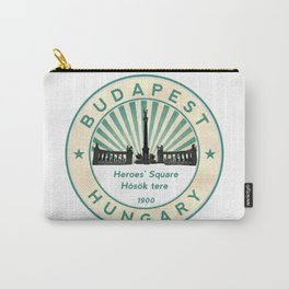 Budapest, Heroes' Square, Hosök tere, Hungary, circle Carry-All Pouch