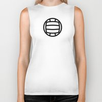 volleyball Biker Tanks featuring Volleyball - Balls Serie by Brigada Creativa