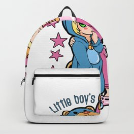 Cute Siblings Boy and Girl pyjamas Backpack