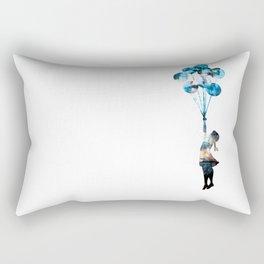 Banksy Balloon Girl Rectangular Pillow