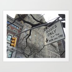 Lights and Signs Art Print