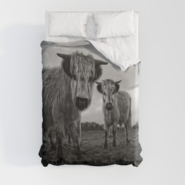 Two Shaggy Cows Duvet Cover