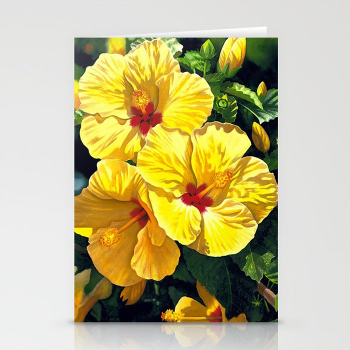 Yellow Hibiscus #18 Stationery Cards