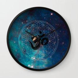 Om & Flower of Life Wall Clock