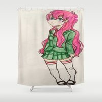 anime Shower Curtains featuring anime  by ArtGuts