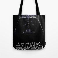 darth vader Tote Bags featuring Darth Vader by Stormega