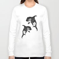 orca Long Sleeve T-shirts featuring orca by Manoou