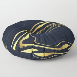 Blue And Gold Marble Floor Pillow