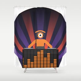 eye.lectronic trance Shower Curtain
