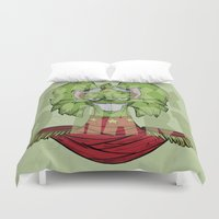 bucky Duvet Covers featuring Bucky by Twisted Dredz