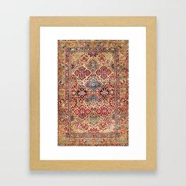 Esfahan Central Persian Rug Print Framed Art Print
