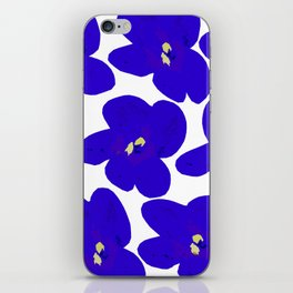 Blue Retro Flowers #decor #society6 #buyart iPhone Skin