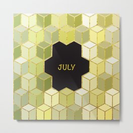 Cubes Of July Metal Print