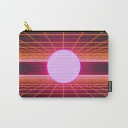Retro 80s Grid 'Into the Void' Carry-All Pouch