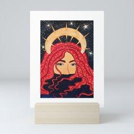 floating goddess Mini Art Print