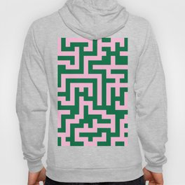 Cotton Candy Pink and Cadmium Green Labyrinth Hoody