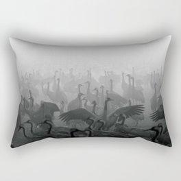 Cranes in the Fog Rectangular Pillow